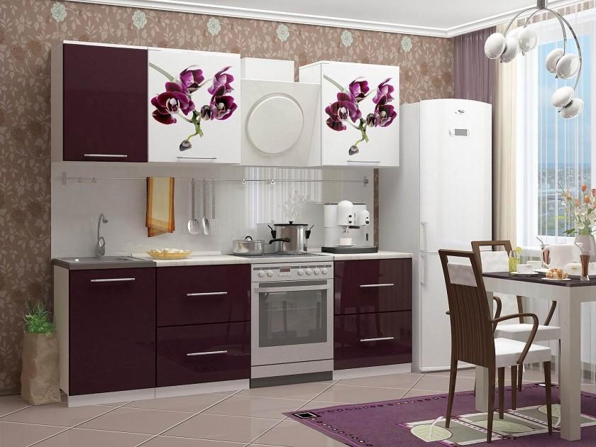 цена на кухонный гарнитур Кухня с фотопечатью Орхидея 1 Кухня с фотопечатью Орхидея 1