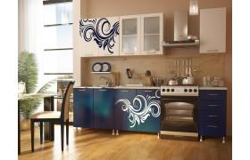 Кухонный гарнитур с фотопечатью Индиго