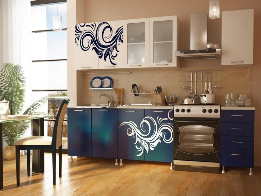 цена на кухонный гарнитур Кухня с фотопечатью Индиго Кухня с фотопечатью Индиго