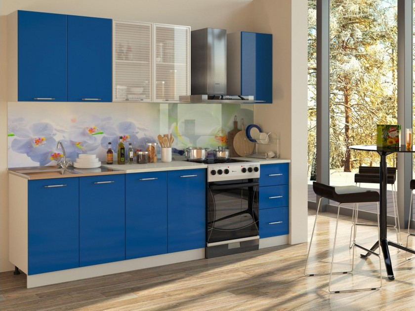 цена на кухонный гарнитур Кухня Синяя 2000 Кухня Синяя 2000