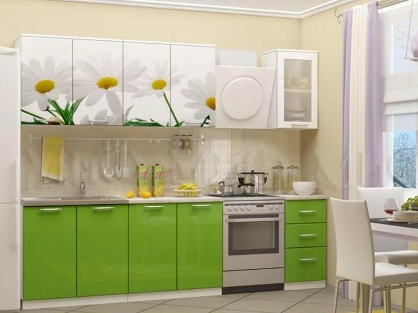 кухонный гарнитур Кухня Ромашки-2 2000 Кухня Ромашки-2 2000
