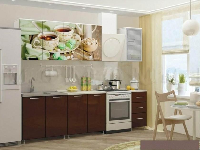 цена на кухонный гарнитур Кухня Чёрный чай 2000 Кухня Чёрный чай 2000