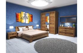 Спальный гарнитур Гарда в цвете Дуб Галифакс табак