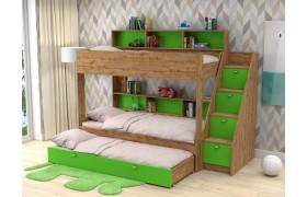 Кровать Трехъярусная Golden Kids 10. (90х190/85х1
