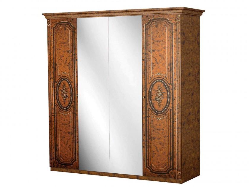 цена на распашной шкаф Шкаф 4-х дверный Флоренция Флоренция
