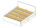 Кровать с блоком, ящиками и матрасом Promo B Cocos Виктория (140 фото