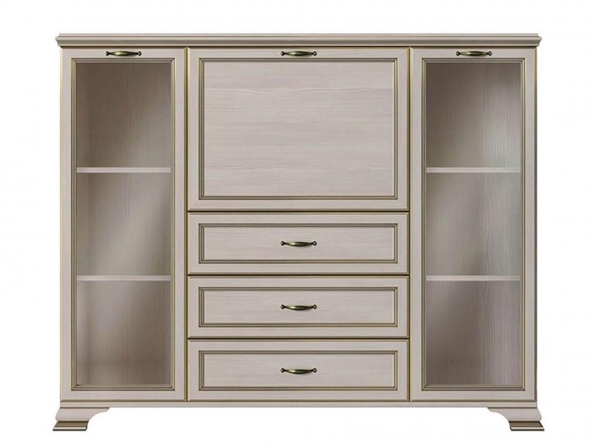 шкаф Шкаф низкий 2 стеклодвери Сиена Сиена брюки loricci сиена цвет васильковый