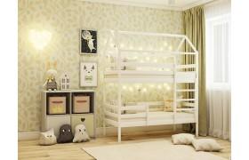 Кровать Двухярусная Кровать-домик (70х160)