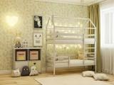 Двухярусная Кровать-домик (70х160) недорого