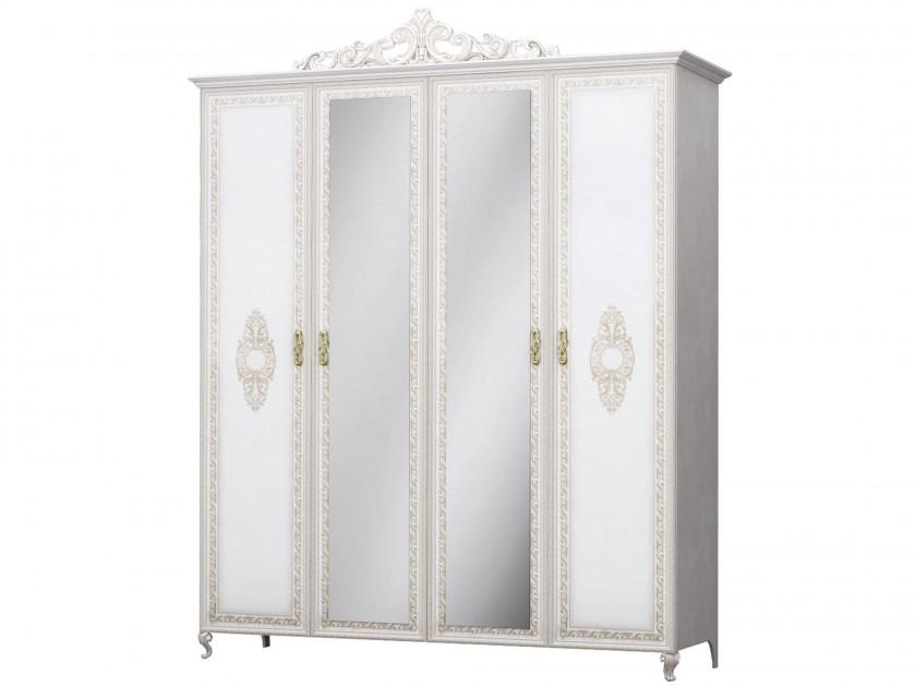 распашной шкаф Шкаф 4-х дверный с доводчиками Медея Медея медея мамт