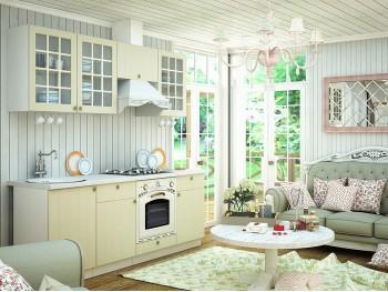 Кухонный гарнитур Прованс в цвете Ваниль