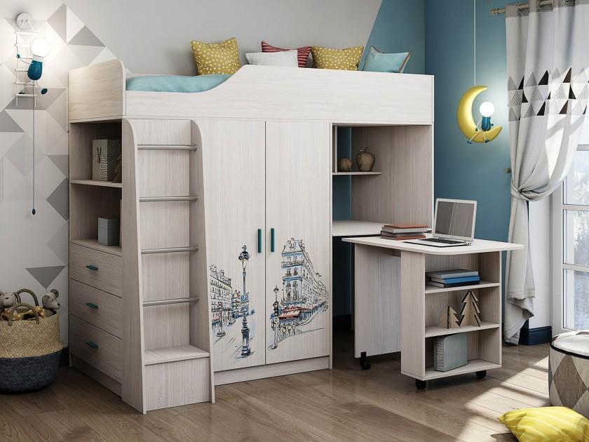 кровать Кровать комбинированная Каприз (80х200)