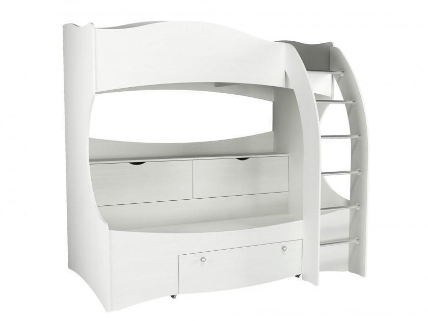 кровать Кровать 2-х ярусная Прованс (80х190) Прованс в цвете Белый кровать кровать 2 х ярусная прованс 80х190 прованс в цвете белый