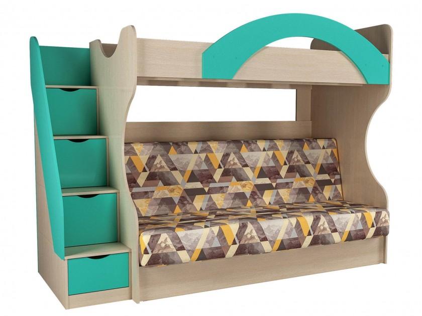 кровать Кровать 2-х ярусная с диваном Рико (90х195/120х195) Рико