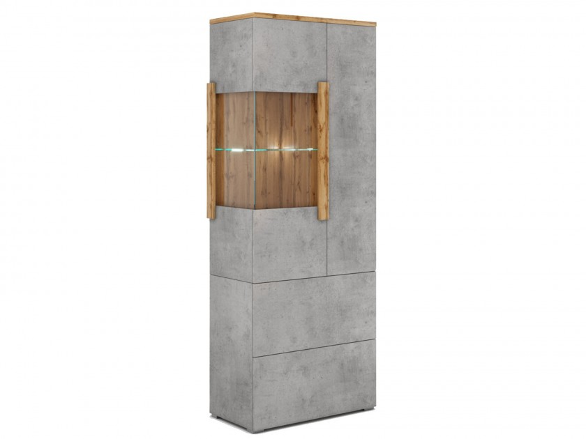 витрина Шкаф-витрина 2 ящика правая Римини Римини