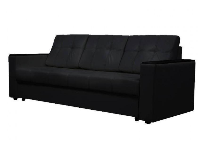 диван Диван-кровать Атлант ДН черный кожзам Атлант