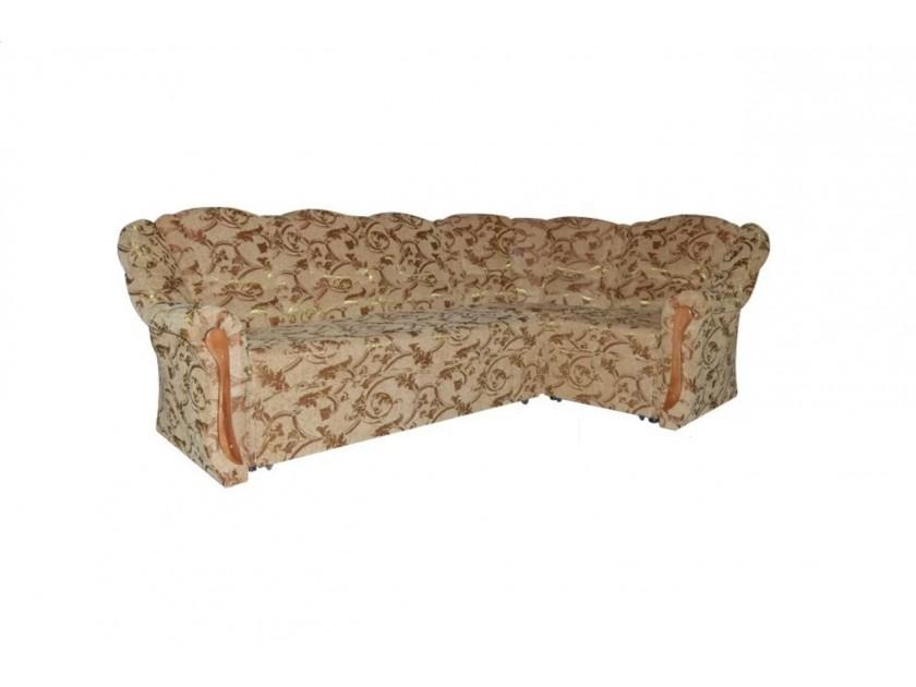 диван Угловой диван-кровать Виктория бежевый людовик крупный вензель Виктория салфетки томдом вензель