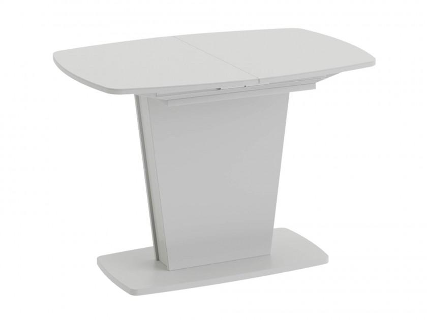 Стеклянные столы на одной ножке для кухни
