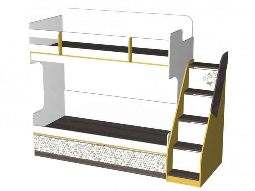 кровать Кровать двухъярусная с лестницей Жираф (80х190) Жираф пирамидка жираф b kids