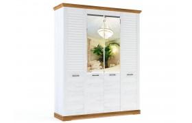 Распашной шкаф Кантри в цвете Орех Рибек натуральный
