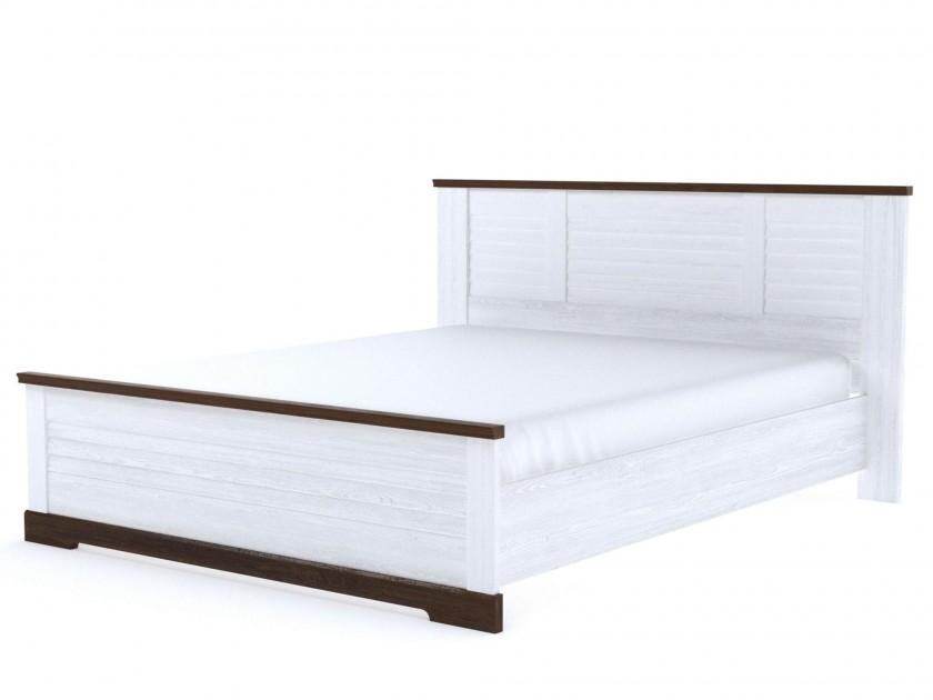 кровать Кровать 2-х спальная Кантри (160х200) Кантри в цвете Орех Рибек темный