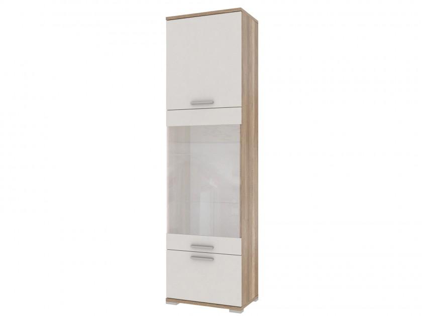 распашной шкаф Шкаф комбинированный Лейла Лейла в цвете Белый глянец