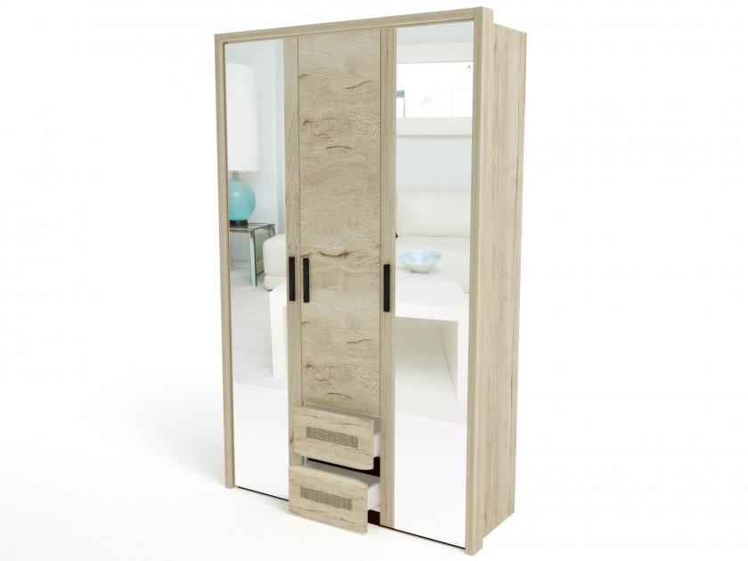 Шкаф 3-х дверный (4 широкие полки) с обкладкой Мале Мале