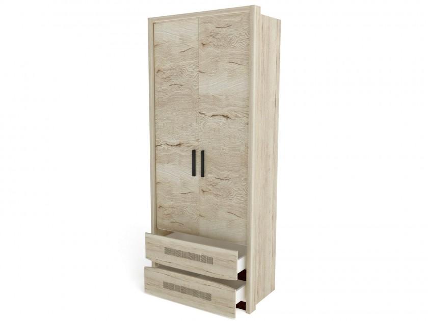 распашной шкаф Шкаф 2-х дверный (4 полки) с обкладкой Мале Мале