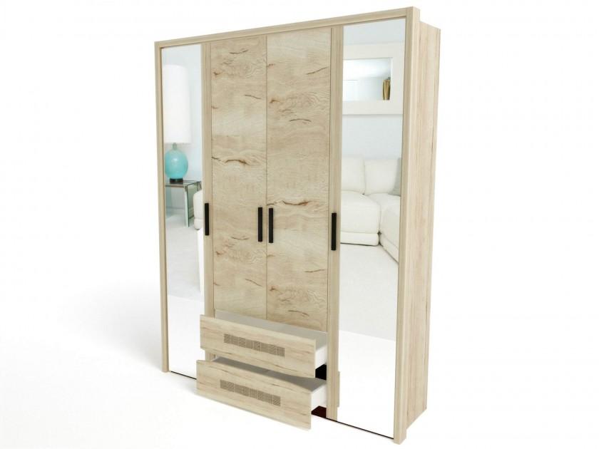 Шкаф 4-х дверный (4 широкие полки) с обкладкой Мале Мале