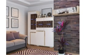 Гостиная Н25 в цвете Белый глянец