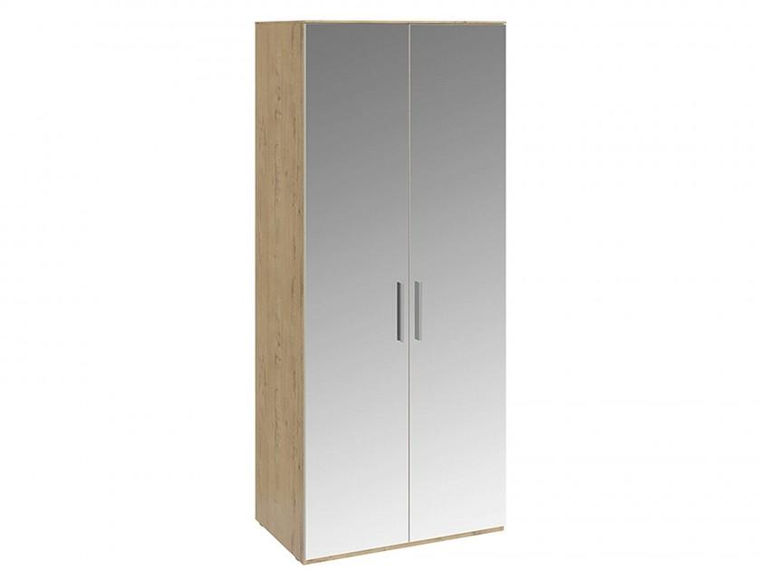 распашной шкаф Шкаф для одежды с 2-мя зеркальными дверями Николь Николь в цвете Бунратти