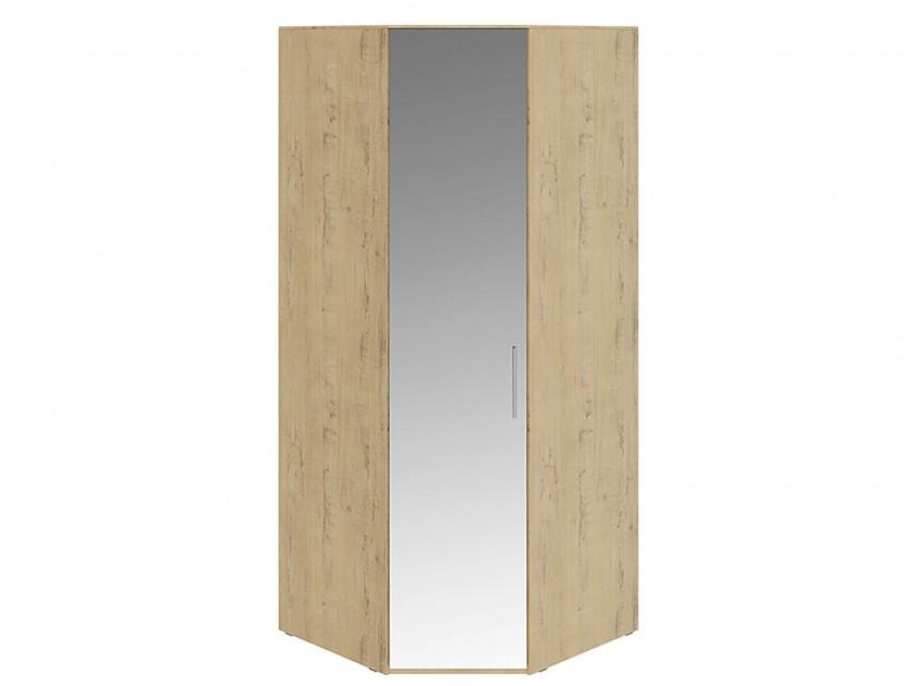 распашной шкаф Шкаф угловой с 1 зеркальной дверью левый Николь Николь в цвете Бунратти