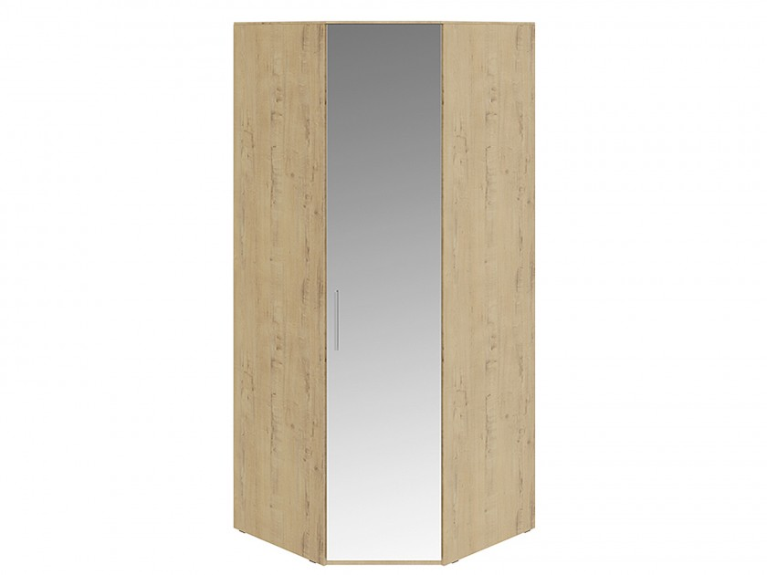 Фото - распашной шкаф Шкаф угловой с 1 зеркальной дверью правый Николь Николь в цвете Бунратти шкаф для белья с 1 зеркальной дверью прованс правый