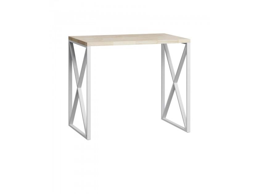 стол Стол барный лофт Лондейл натуральный с белым основанием Лондейл