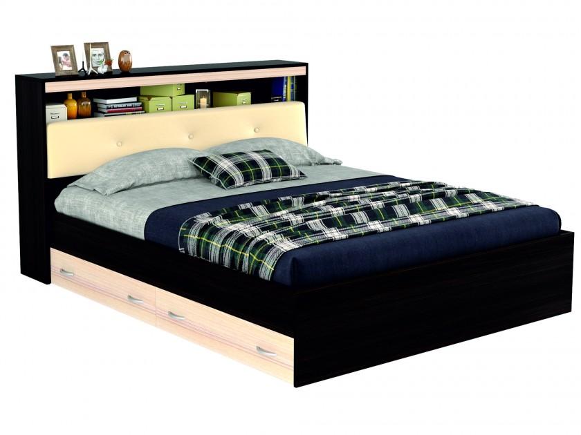 кровать Кровать с блоком, ящиками и комплектом для сна Виктория ЭКО-П (180х200) Виктория