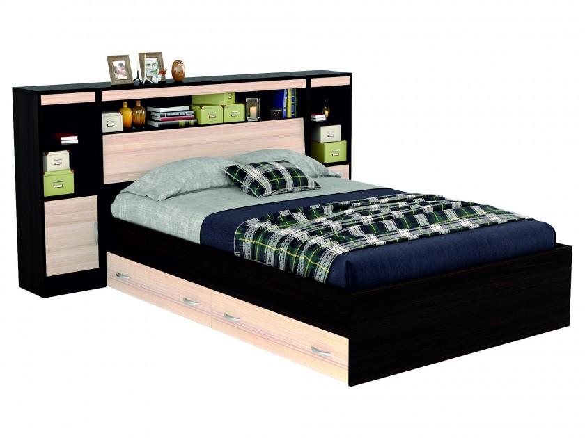 кровать Кровать с блоком, ящиками, тумбами и комплектом для сна Виктория (140х200) Виктория