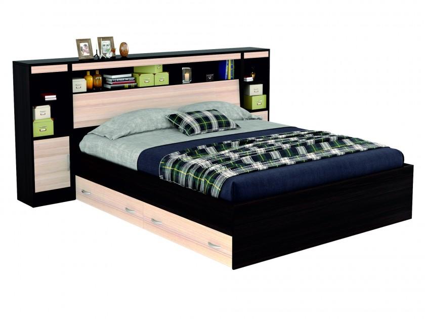 кровать Кровать с блоком, ящиками, тумбами и комплектом для сна Виктория (160х200) Виктория