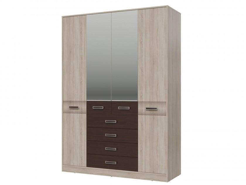 распашной шкаф Шкаф 4-х дверный с ящиками Румба Румба