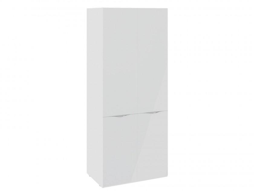 распашной шкаф Шкаф для одежды с 2 дверями со стеклом Глосс Глосс