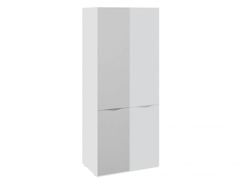 шкаф Шкаф для одежды с 1 зеркальной и 1 дверью со стеклом Глосс Глосс трия шкаф верхний со стеклом синга крем в 60 60 1дос