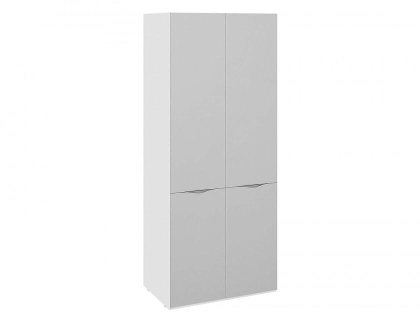 распашной шкаф Шкаф для одежды с 2 зеркальными дверями Глосс Глосс