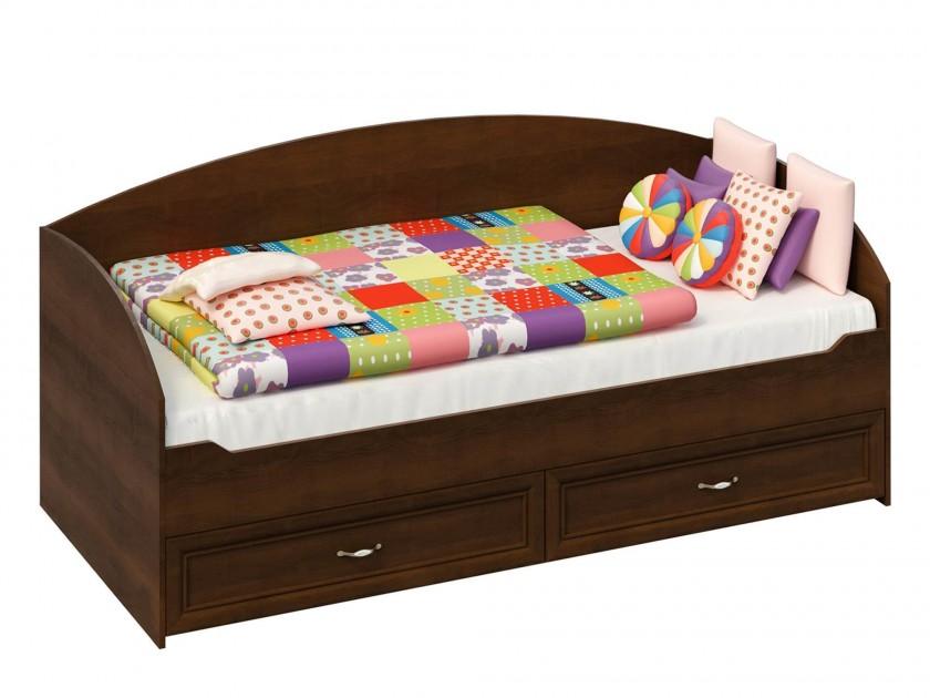 цена на кровать Кровать с выдвижными ящиками Марта (90х200) Марта в цвете Орех