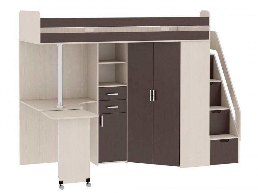 кровать Кровать-чердак со шкафом и столом Рада Рада детские кровати чердаки со столом и шкафом