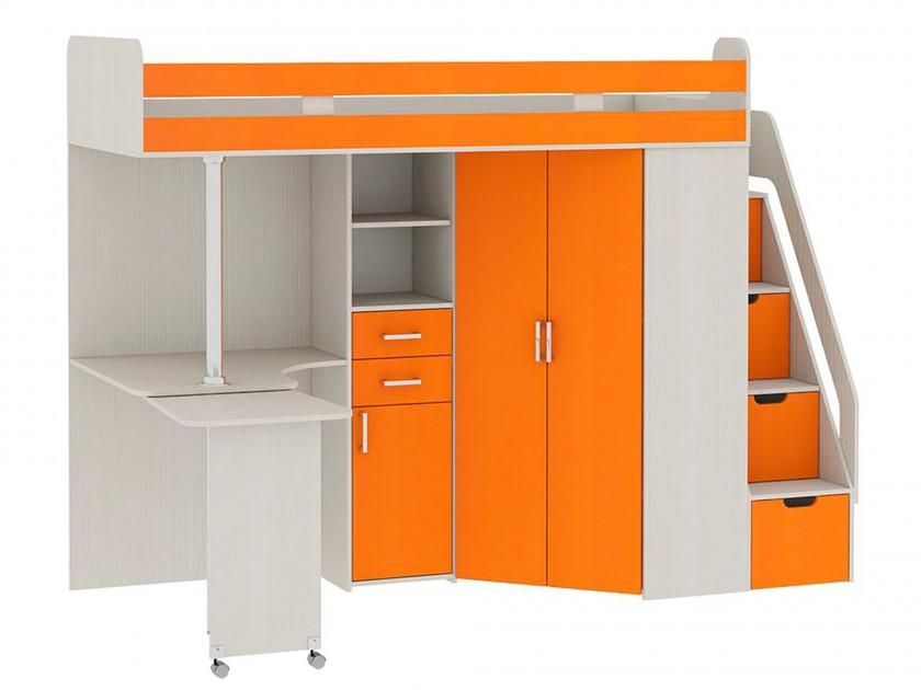 Кровать-чердак со шкафом и столом Рада Рада