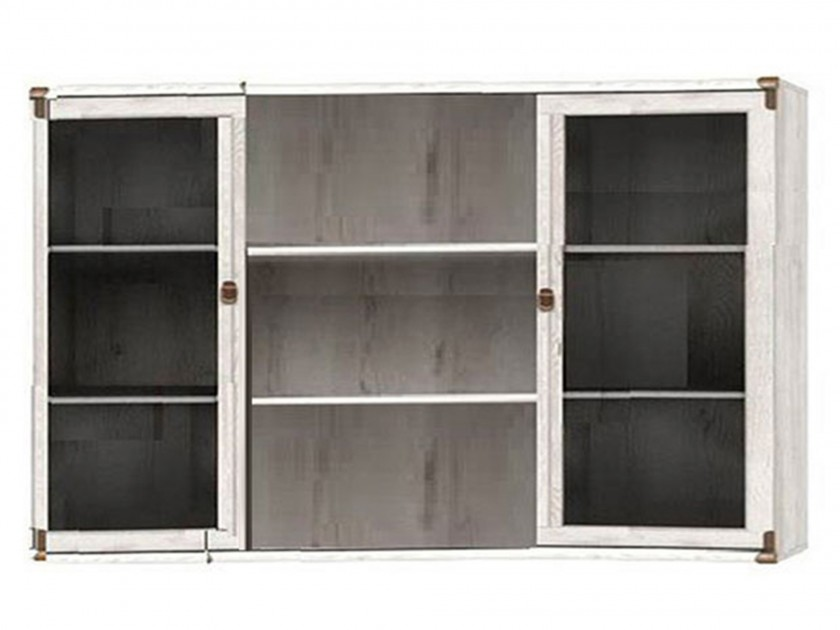 шкаф для кухни Витрина настенная Индиана Индиана в цвете Сосна Каньйон
