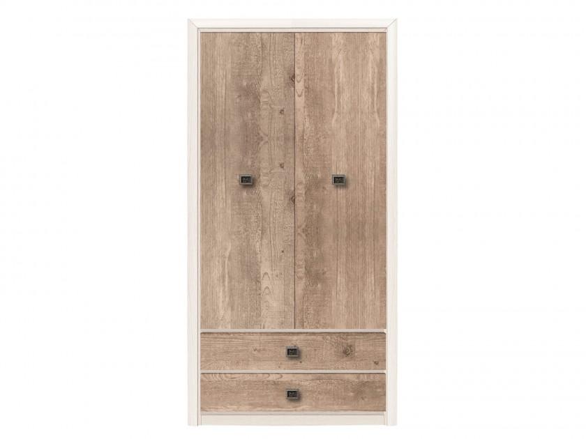 распашной шкаф Шкаф 2-х дверный с ящикамиКоен Коен Ясень Снежный распашной шкаф шкаф 3 х дверный с ящиками коен штрокс темный