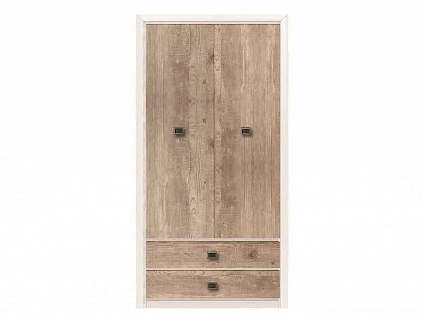 распашной шкаф шкаф 2 х дверный с ящиками коен штрокс темный Шкаф 2-х дверный с ящиками Коен Коен Ясень Снежный