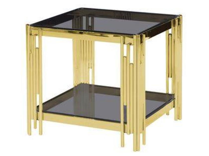 журнальный стол Журнальный столик Stool Group Гэтсби smoke/золото [EET-027-TG-1]