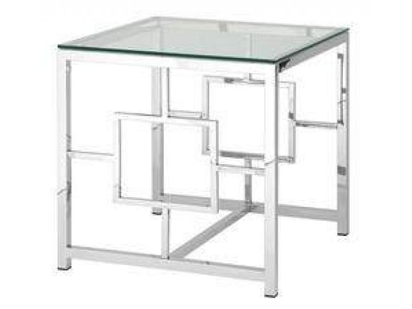 журнальный стол Журнальный столик Stool Group Бруклин серебро [EET-013]