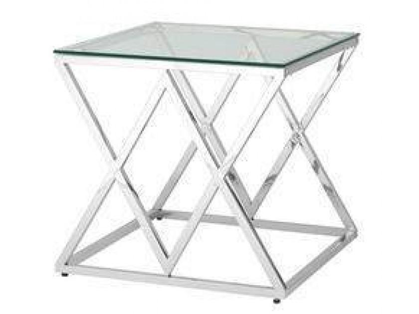журнальный стол Журнальный столик Stool Group Инсигния серебро [EET-026]